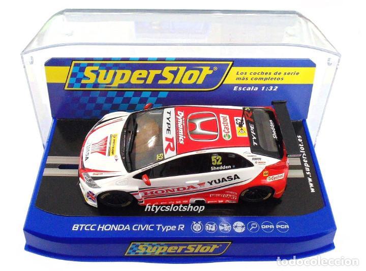 Slot Cars: SUPERSLOT HONDA CIVIC TYPE R #52 BTCC 2015 GORDON SHEDDEN YUASA SCALEXTRIC UK H3783 - Foto 12 - 89545648