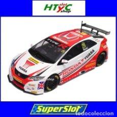 Slot Cars: SUPERSLOT HONDA CIVIC TYPE R #25 BTCC 2015 MATT NEAL YUASA SCALEXTRIC UK H3734. Lote 74867931