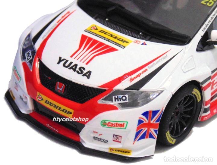 Slot Cars: SUPERSLOT HONDA CIVIC TYPE R #25 BTCC 2015 MATT NEAL YUASA SCALEXTRIC UK H3734 - Foto 5 - 74867931