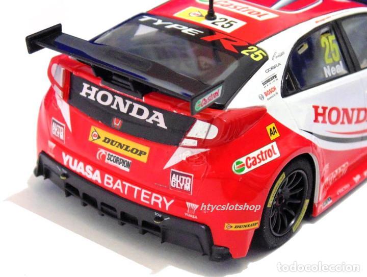 Slot Cars: SUPERSLOT HONDA CIVIC TYPE R #25 BTCC 2015 MATT NEAL YUASA SCALEXTRIC UK H3734 - Foto 7 - 74867931