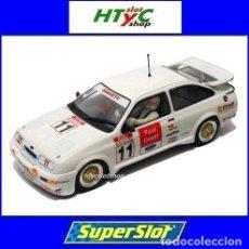 Slot Cars: SUPERSLOT FORD SIERRA RS500 #11 BRANDS HATCH BTCC 1990 JOBB GRAVETT CREDIT SCALEXTRIC H3781. Lote 82867032