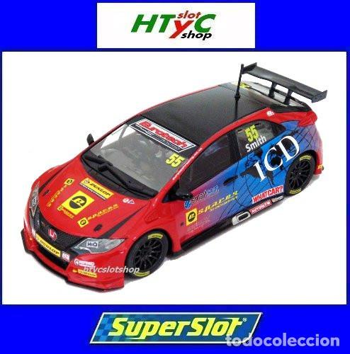 Slot Cars: SUPERSLOT HONDA CIVIC TYPE R #55 BTCC 2016 BRANDS HATCH JEFF SMITH EUROTE SCALEXTRIC UK H3860 - Foto 1 - 83475520