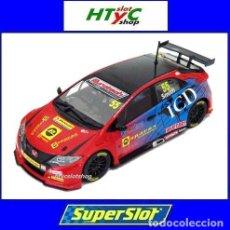 Slot Cars: SUPERSLOT HONDA CIVIC TYPE R #55 BTCC 2016 BRANDS HATCH JEFF SMITH EUROTE SCALEXTRIC UK H3860. Lote 83475520