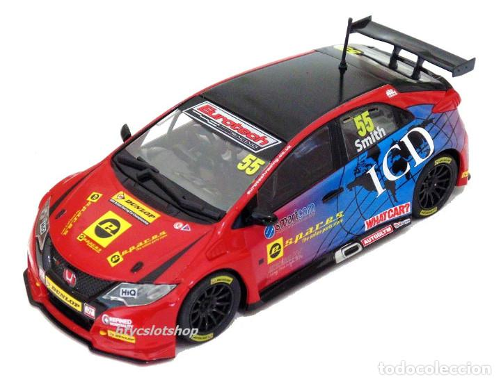 Slot Cars: SUPERSLOT HONDA CIVIC TYPE R #55 BTCC 2016 BRANDS HATCH JEFF SMITH EUROTE SCALEXTRIC UK H3860 - Foto 2 - 83475520