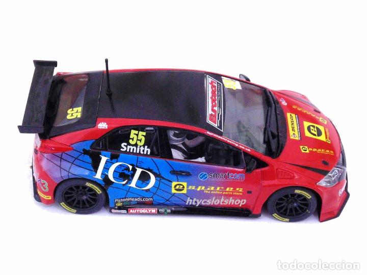 Slot Cars: SUPERSLOT HONDA CIVIC TYPE R #55 BTCC 2016 BRANDS HATCH JEFF SMITH EUROTE SCALEXTRIC UK H3860 - Foto 3 - 83475520