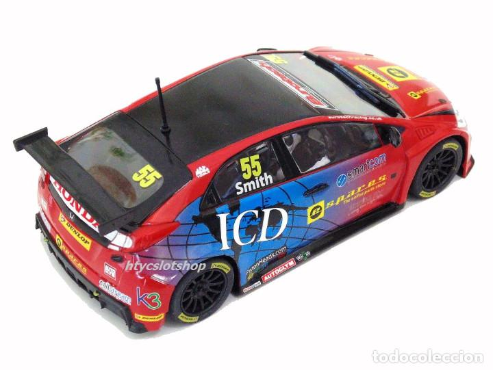 Slot Cars: SUPERSLOT HONDA CIVIC TYPE R #55 BTCC 2016 BRANDS HATCH JEFF SMITH EUROTE SCALEXTRIC UK H3860 - Foto 4 - 83475520