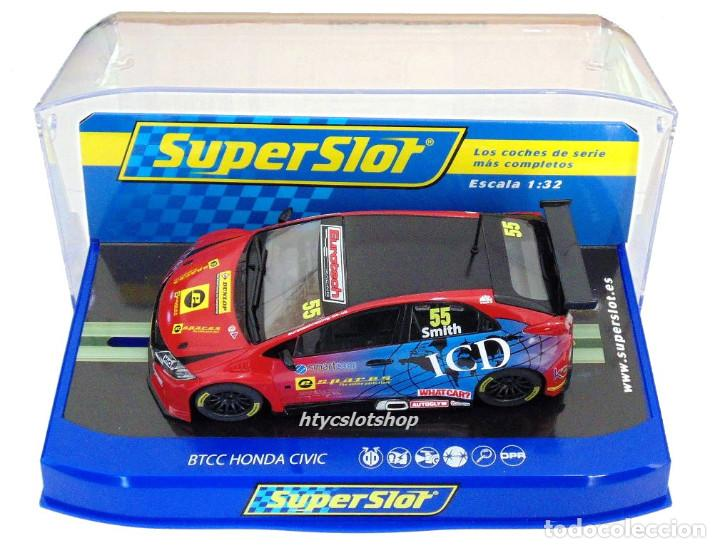 Slot Cars: SUPERSLOT HONDA CIVIC TYPE R #55 BTCC 2016 BRANDS HATCH JEFF SMITH EUROTE SCALEXTRIC UK H3860 - Foto 10 - 83475520