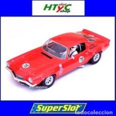 Slot Cars: SUPERSLOT CHEVROLET CAMARO 1969 #79 WATKINS GLEN 1971 SWEDE SAVAGE SCALEXTRIC UK S3725. Lote 120816436