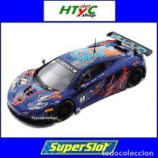 Slot Cars: SUPERSLOT MCLAREN 12C GT3 #88 SPA VON RYAN RACING MONZA 2013 SCALEXTRIC UK H3850. Lote 84790248
