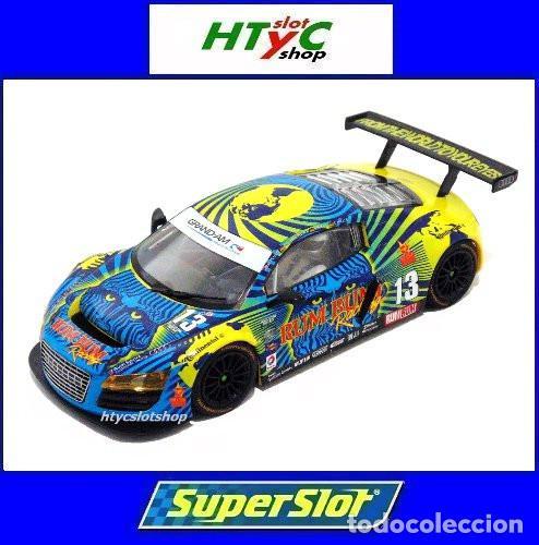 SUPERSLOT AUDI R8 GT3 #13 BIELA / HAASE / PLUMB / WINKELHOCK DAYTONA 2013 RUM BUM SCALEXTRIC UK 3854 (Juguetes - Slot Cars - Magic Cars y Otros)