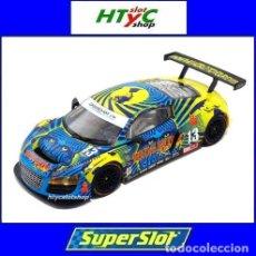 Slot Cars: SUPERSLOT AUDI R8 GT3 #13 BIELA / HAASE / PLUMB / WINKELHOCK DAYTONA 2013 RUM BUM SCALEXTRIC UK 3854. Lote 84790692