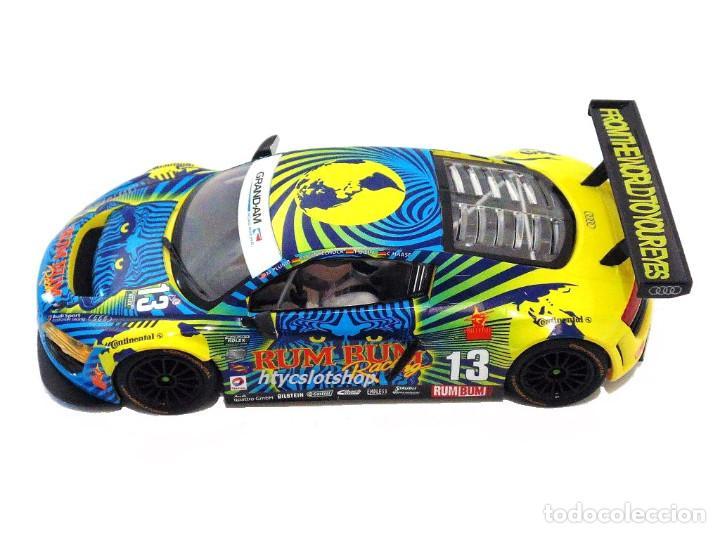 Slot Cars: SUPERSLOT AUDI R8 GT3 #13 BIELA / HAASE / PLUMB / WINKELHOCK DAYTONA 2013 RUM BUM SCALEXTRIC UK 3854 - Foto 3 - 84790692