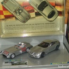 Slot Cars: ESTUCHE CONMEMORATIVO MERCEDES BENZ SLR EDICION LIMITADA DE SUPESLOT NUEVO. Lote 87667864