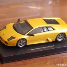 Slot Cars: AUTOART SLOT CAR 1:32 LAMBORGHINI MURCIELAGO AMARILLO CON LUZ EN SU CAJA.. Lote 87667952