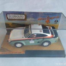 Slot Cars: SCALEAUTO AFRICA LEGENDS PORSCHE 959 RAID CHALLENGE DAKAR 4X4 GUIA BASCULANTE VÁLIDO SCALEXTRIC. Lote 118696716
