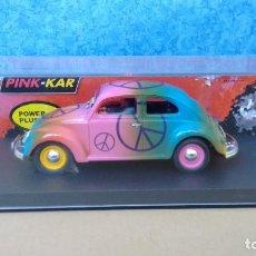Slot Cars: ESCARABAJO, VW BEETLE HIPPY. PINK-KAR CV 047. Lote 90630330