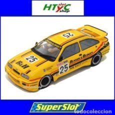 Slot Cars: SUPERSLOT FORD SIERRA RS #25 BATHURST 1000 1988 BENSON & HEDGES LONGHURST / MEZERA SCALEXTRIC H3868. Lote 90832145