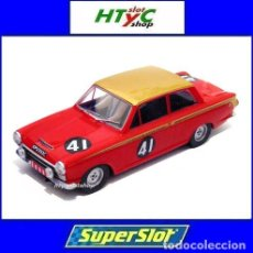 Slot Cars: SUPERSLOT LOTUS CORTINA MK1 #41 JOHN WHITMORE ALAN MANN RACING SNETTERTON 1965 SCALEXTRIC H3870. Lote 98660708