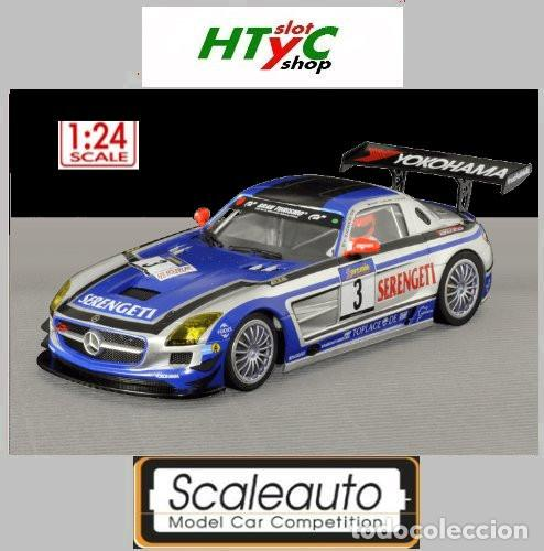 SCALEAUTO 1:24 MERCEDES BENZ SLS #3 SERENGETI BLACK FALCON NURBURGRING SC 7027 (Juguetes - Slot Cars - Magic Cars y Otros)