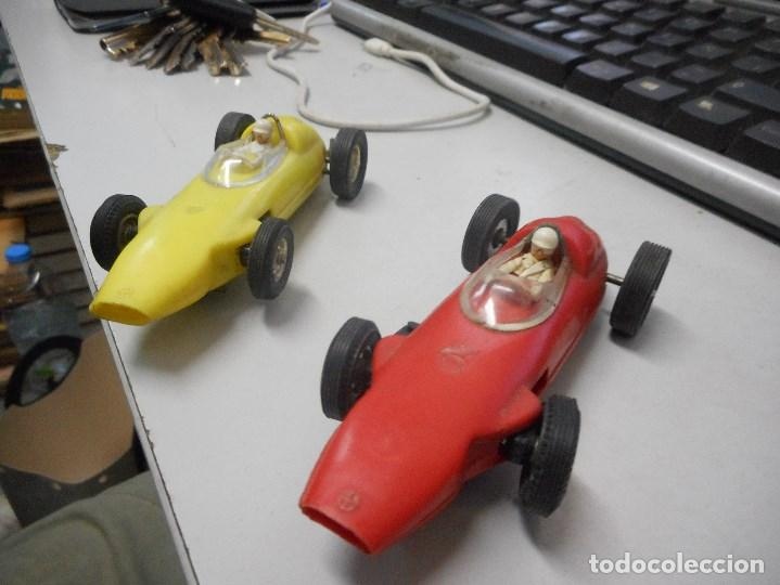 Slot Cars: pareja coche tipo scalextric made in spain brm formula1 - Foto 2 - 93782655