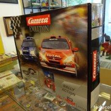 Slot Cars: CARRERA EVOLUTION. RALLY ACTION. CAJA REF: 25128. IMPECABLE A ESTRENAR. Lote 95074115