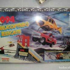 Slot Cars: HELICOPTERO DE RESCATE O94 JUGUETE ELECTRICO FAMOSA 1993 - NUEVO A ESTRENAR. Lote 95763023