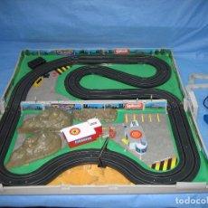 Slot Cars: CIRCUITO MICRO MACHINES. EL CIRCUITO FUNCIONA. Lote 96042327