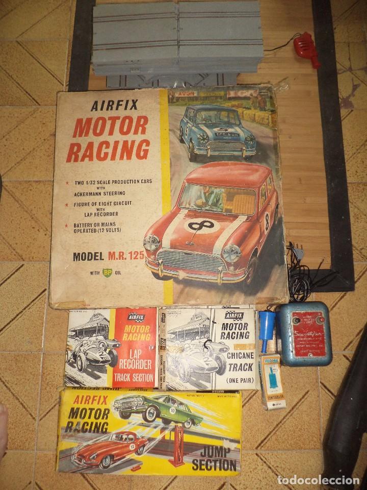 PISTA SLOT AIRFIX MOTOR RACING MODEL M.R.125.MINI COOPER 1966 + ACCESORIOS.ESCALA 1/32.AÑOS 60. (Juguetes - Slot Cars - Magic Cars y Otros)