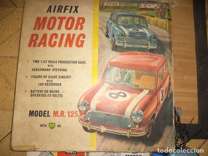 Slot Cars: Pista Slot Airfix Motor Racing Model M.R.125.Mini Cooper 1966 + accesorios.Escala 1/32.Años 60. - Foto 2 - 97076943