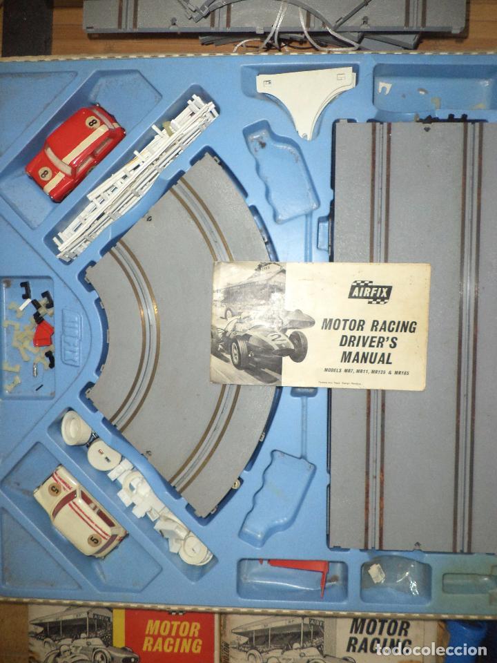 Slot Cars: Pista Slot Airfix Motor Racing Model M.R.125.Mini Cooper 1966 + accesorios.Escala 1/32.Años 60. - Foto 3 - 97076943