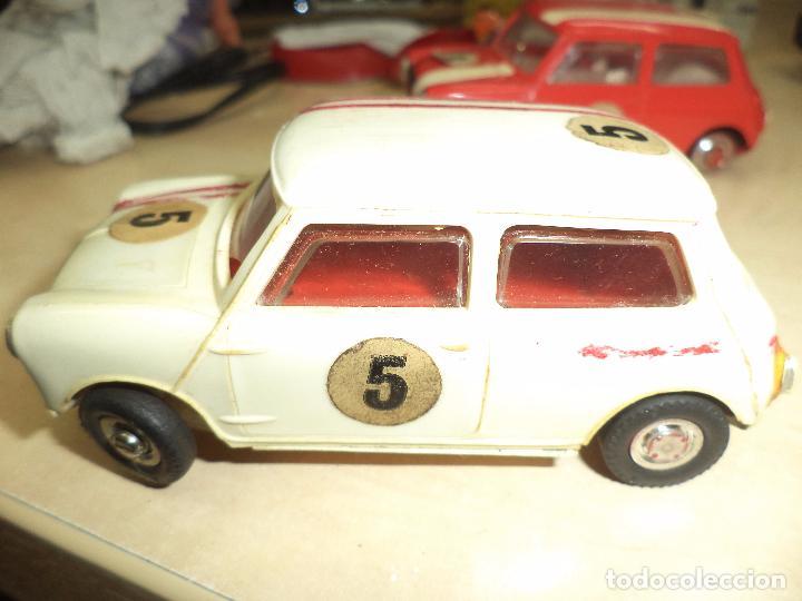 Slot Cars: Pista Slot Airfix Motor Racing Model M.R.125.Mini Cooper 1966 + accesorios.Escala 1/32.Años 60. - Foto 11 - 97076943