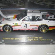 Slot Cars: PORSCHE 924 CARRERA GT DE LAS 24H. DE LE MANS 1980 DE FALCON SLOT CARS. Lote 155246866