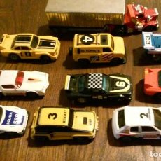 Slot Cars: LOTE COCHES DE CARRERAS IDEAL TOY CORP 1980 MODEL IBER SA SPAIN. Lote 101093927
