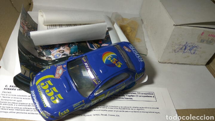MINI REPLICAS CARROCERÍA RESINA SUBARU IMPREZA 555 REPSOL MONTECARLO 94 (Juguetes - Slot Cars - Magic Cars y Otros)