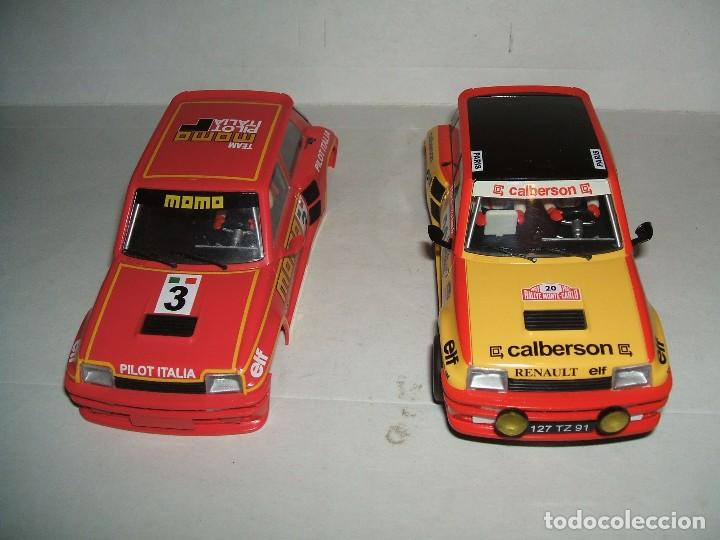 Slot Cars: RENAULT 5 TURBO DECORACION CALBERSON DE SPIRIT + CARROCERÍA MOMO - Foto 1 - 103646031