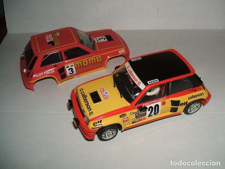 Slot Cars: RENAULT 5 TURBO DECORACION CALBERSON DE SPIRIT + CARROCERÍA MOMO - Foto 3 - 103646031