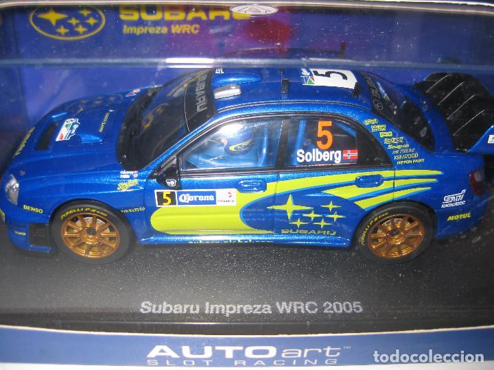 SUBARU IMPREZA WRC 2005 Nº5 DE SOLBERG DE AUTO ART (Juguetes - Slot Cars - Magic Cars y Otros)