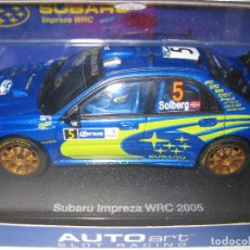 Slot Cars: SUBARU IMPREZA WRC 2005 Nº5 DE SOLBERG DE AUTO ART. Lote 130161171