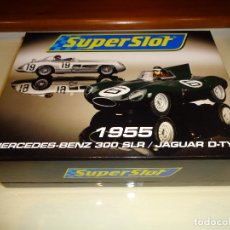 Slot Cars: SUPERSLOT. SET MERCEDES 300 SLR Y JAGUAR D-TYPE. Lote 106667327