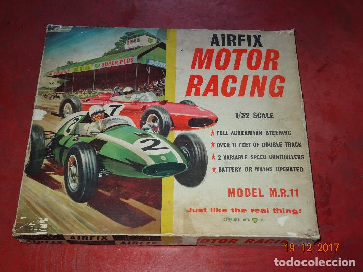 CAJA CIRCUITO MOTOR RACING DE AIRFIX CON COOPER Y FERRARI ESCALA 1/32 IGUAL A SCALEXTRIC - AÑO 1960S (Juguetes - Slot Cars - Magic Cars y Otros)