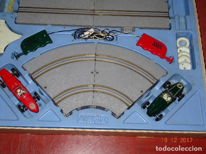 Slot Cars: Caja Circuito MOTOR RACING de AIRFIX con COOPER y FERRARI Escala 1/32 Igual a Scalextric - Año 1960s - Foto 6 - 106960487