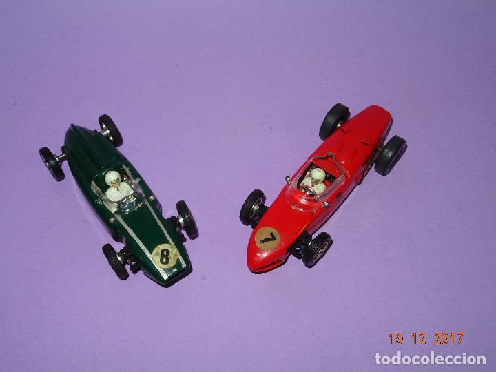 Slot Cars: Caja Circuito MOTOR RACING de AIRFIX con COOPER y FERRARI Escala 1/32 Igual a Scalextric - Año 1960s - Foto 9 - 106960487
