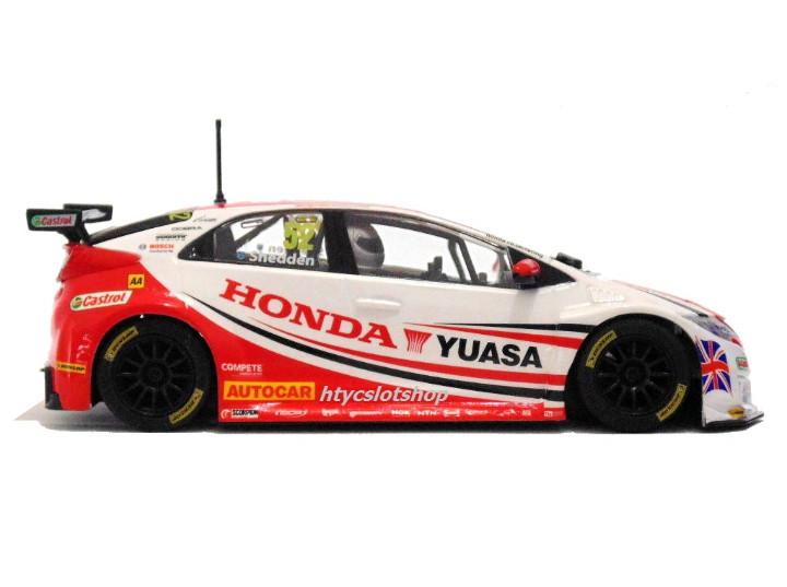 Slot Cars: SUPERSLOT HONDA CIVIC TYPE R #52 BTCC 2015 GORDON SHEDDEN YUASA SCALEXTRIC UK H3783 - Foto 6 - 89545648