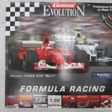 Slot Cars: CARRERA EVOLUTION REF. 25303 INCLUYE FERRARI 2002 V10 CON CAJA ORIGINAL Y COMPLETO. Lote 109587635