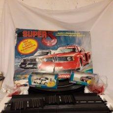 Slot Cars: CIRCUITO SLOT CARS CARRERA SERVO 75100 CON 2 COCHES EN CAJA .. Lote 110550206