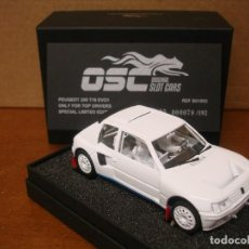Slot Cars: OSC PEUGEOT 205 ONLY FOR TOP DRIVERS REF B01002 NUEVO CON SU CAJA ORIGINAL. Lote 110694851