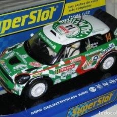Slot Cars: MINI COUNTRYMAN WRC SUPERSLOT/SCALEXTRIC NUEVO EN CAJA. Lote 112370095