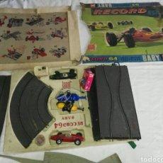 Slot Cars: JUEGO RECORD 64 , FABRICACIÓN EN FRANCIA. Lote 112709079