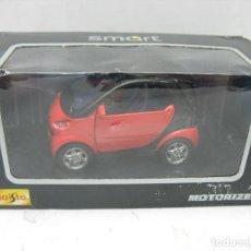 Slot Cars: MAISTO CHAVES REF: 21103 - RARO COCHE SMART ROJO - ESCALA 1:33. Lote 112901787