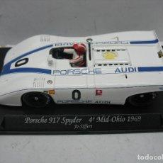 Slot Cars: GB TRACK - COCHE DE CARRERAS PORSCHE 917 SPYDER 4º MID-OHIO 1969. Lote 113086379